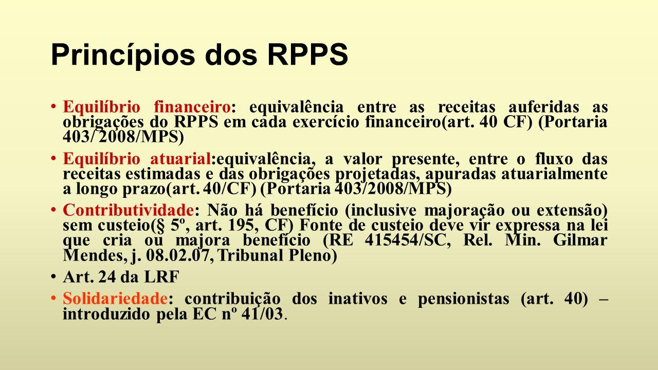 Princípios dos RPPS