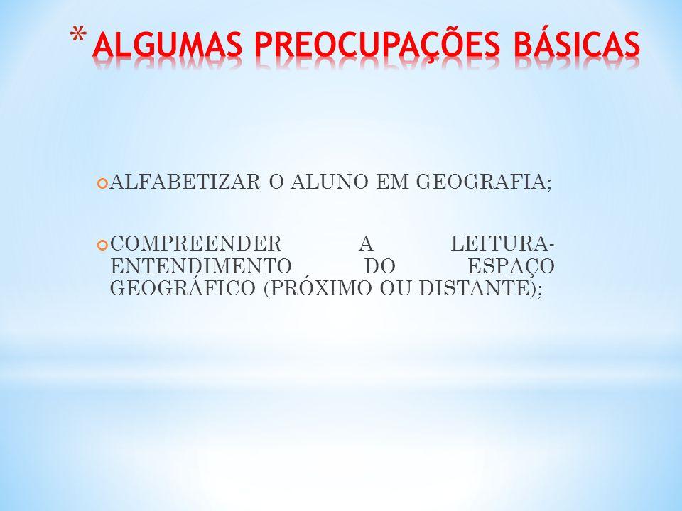 ALGUMAS PREOCUPAÇÕES BÁSICAS