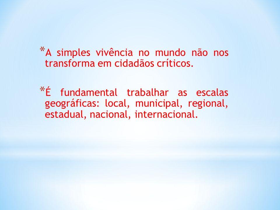 A simples vivência no mundo não nos transforma em cidadãos críticos.