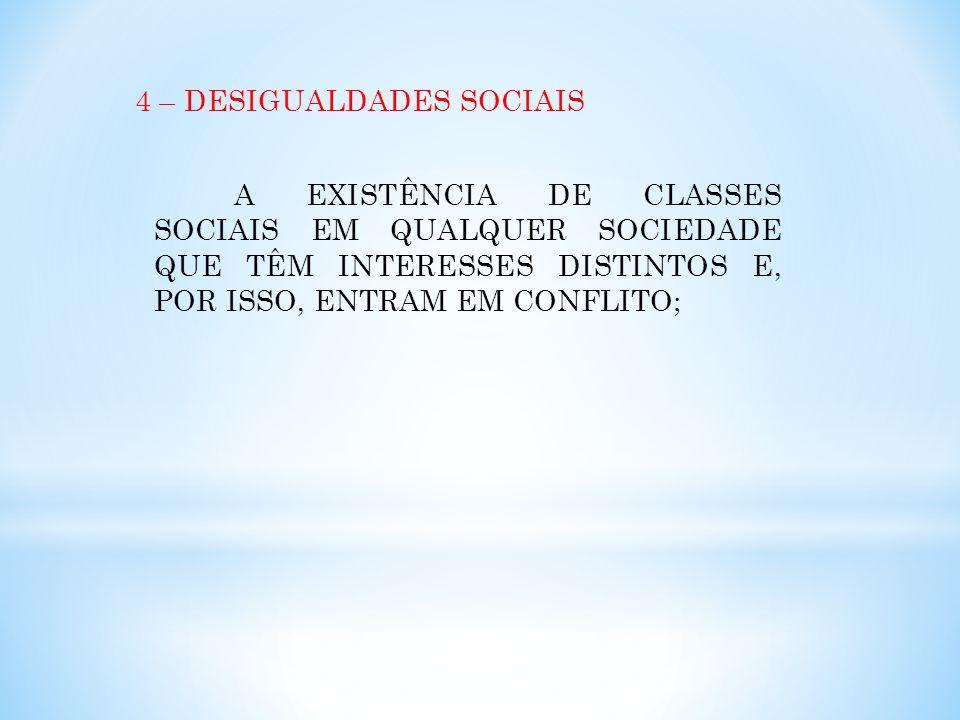 4 – DESIGUALDADES SOCIAIS
