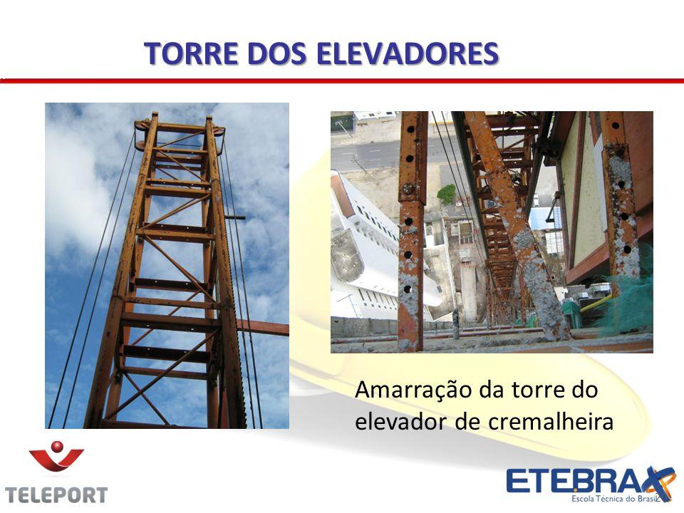 TORRE DOS ELEVADORES Amarração da torre do elevador de cremalheira 20