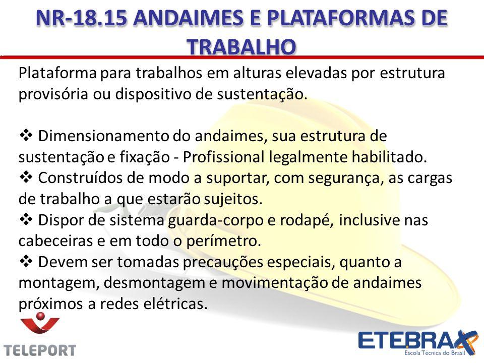 NR-18.15 ANDAIMES E PLATAFORMAS DE TRABALHO
