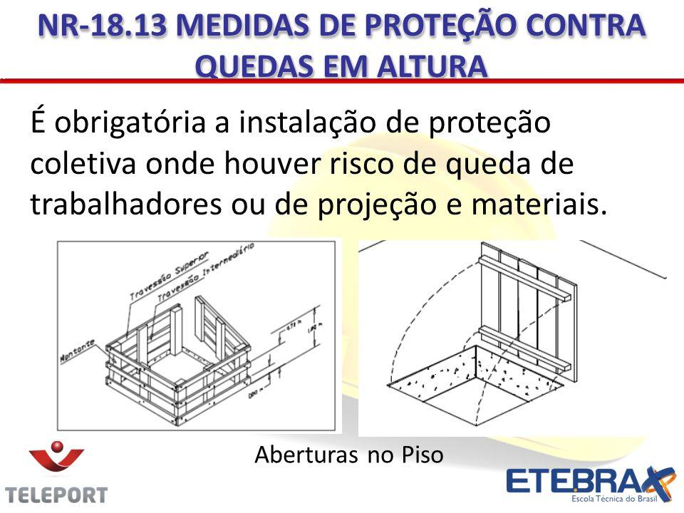 NR-18.13 MEDIDAS DE PROTEÇÃO CONTRA QUEDAS EM ALTURA