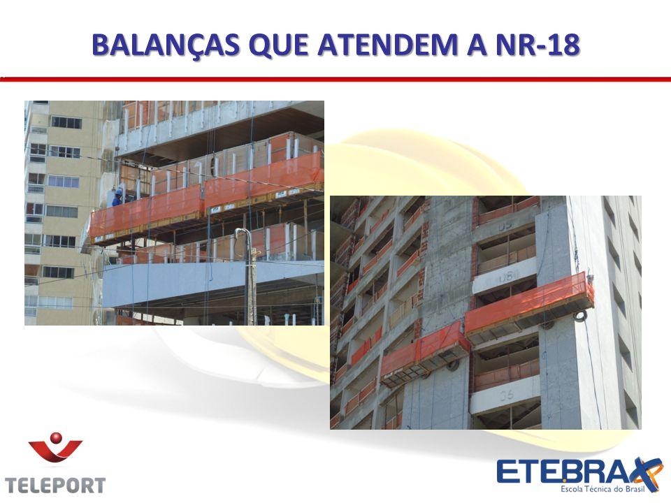 BALANÇAS QUE ATENDEM A NR-18
