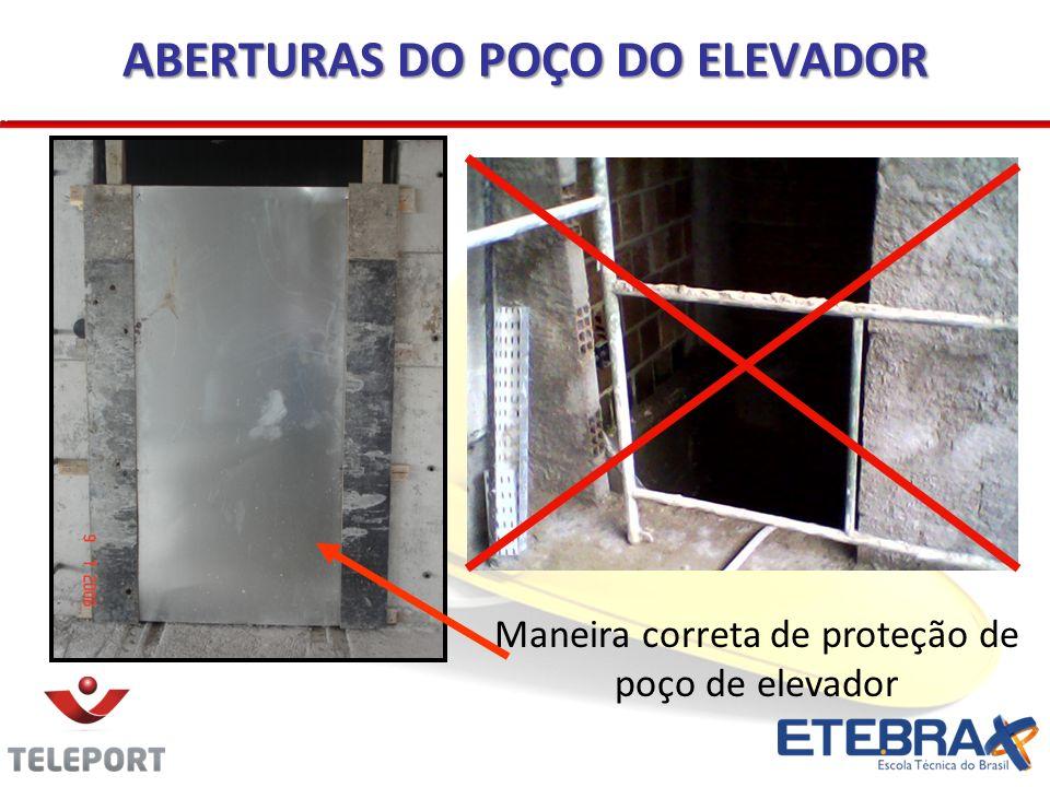 ABERTURAS DO POÇO DO ELEVADOR