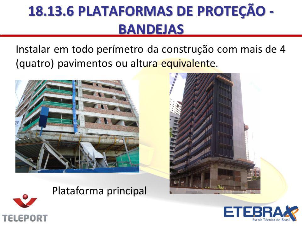 18.13.6 PLATAFORMAS DE PROTEÇÃO - BANDEJAS