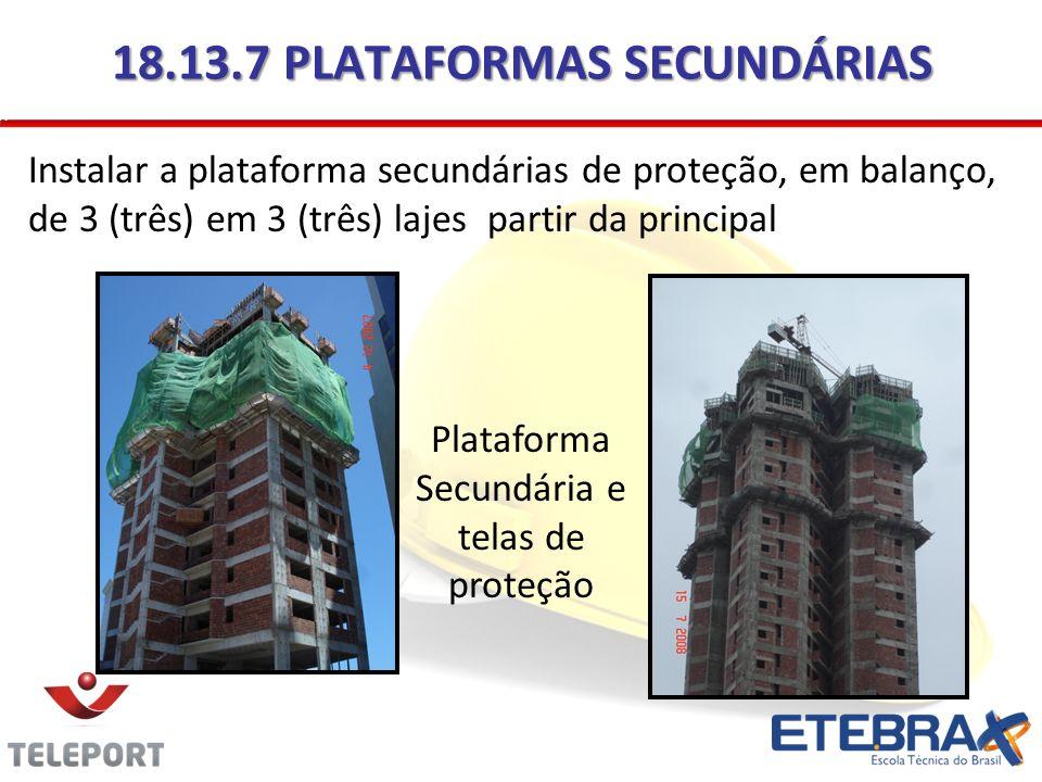18.13.7 PLATAFORMAS SECUNDÁRIAS