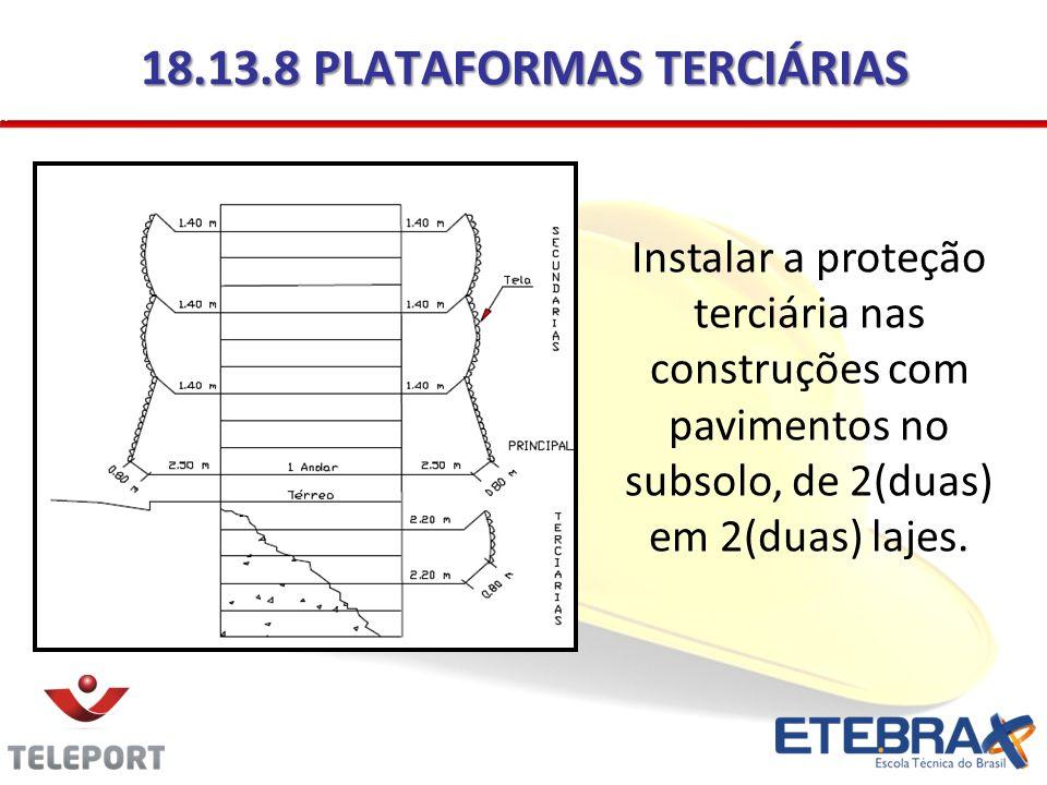 18.13.8 PLATAFORMAS TERCIÁRIAS
