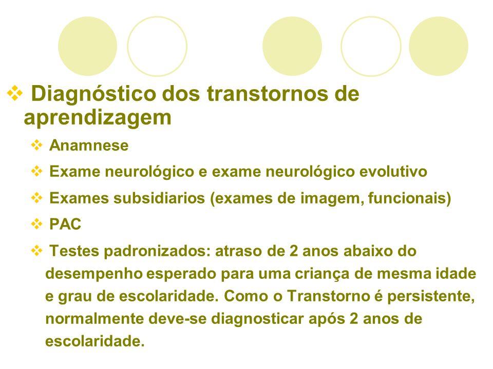 Diagnóstico dos transtornos de aprendizagem