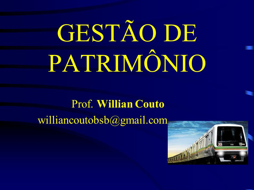 Prof. Willian Couto williancoutobsb@gmail.com