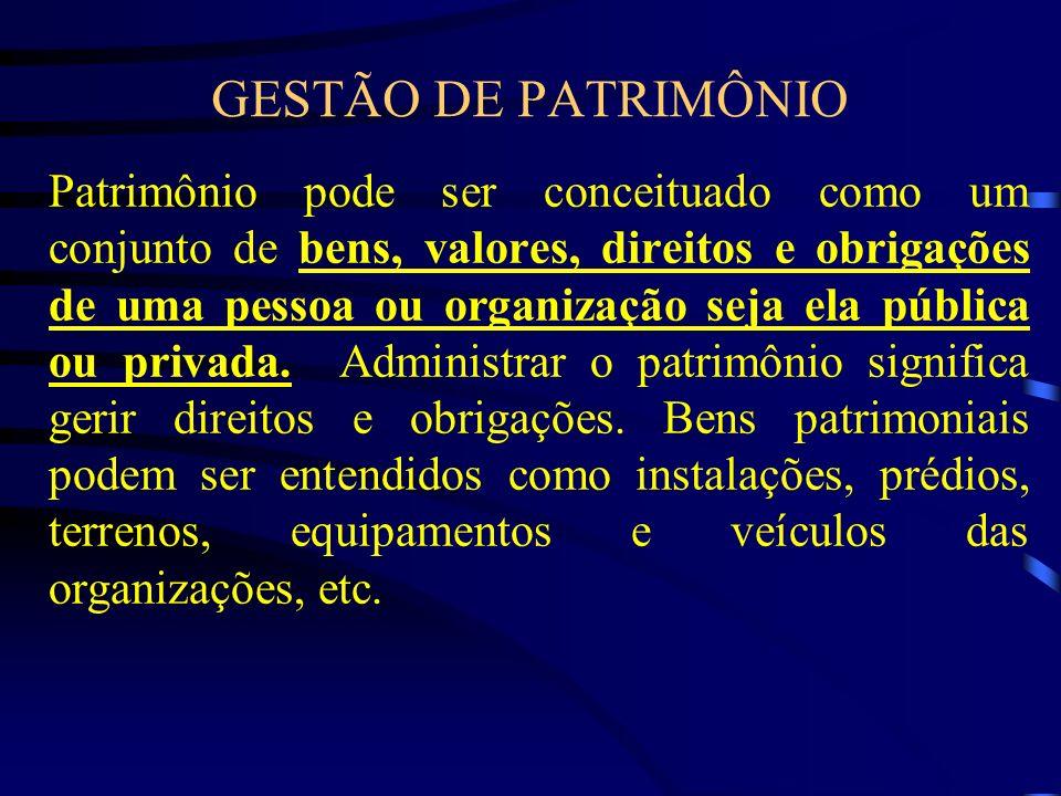 GESTÃO DE PATRIMÔNIO