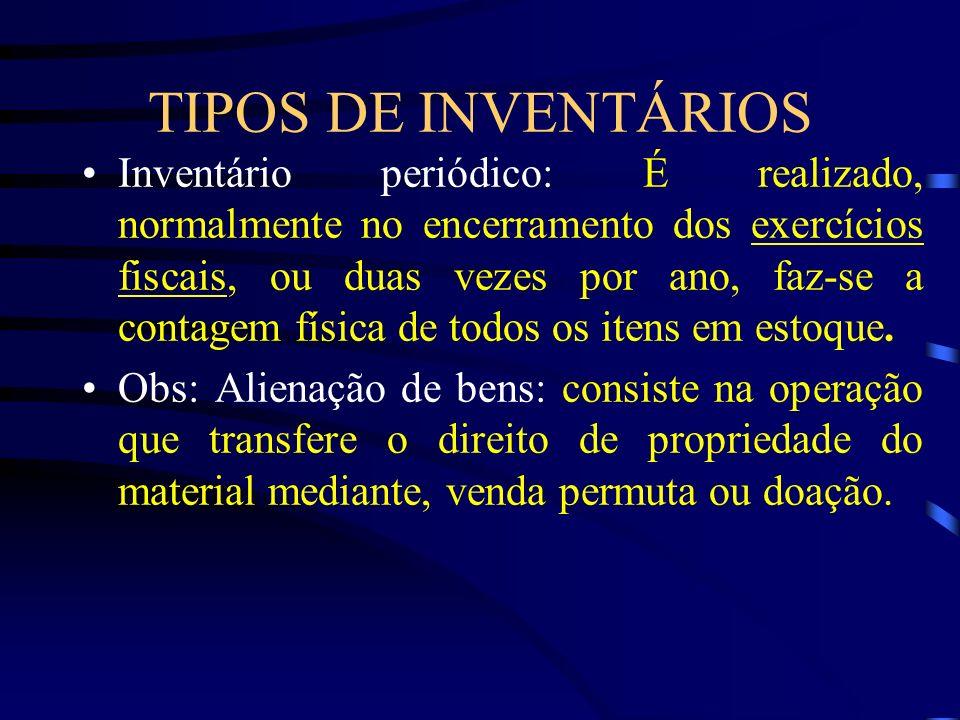 TIPOS DE INVENTÁRIOS