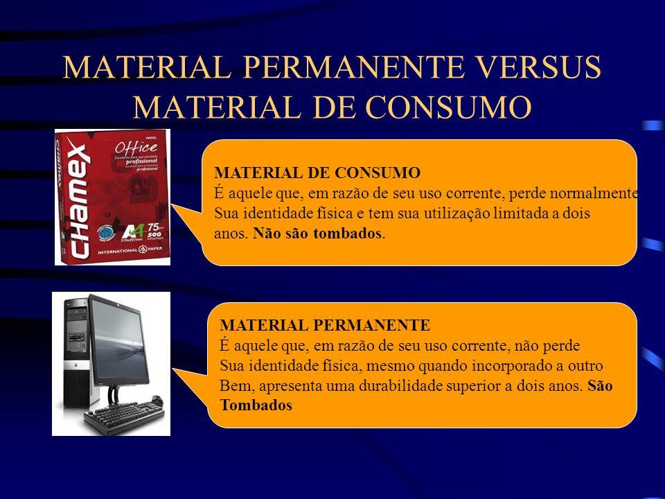 MATERIAL PERMANENTE VERSUS MATERIAL DE CONSUMO