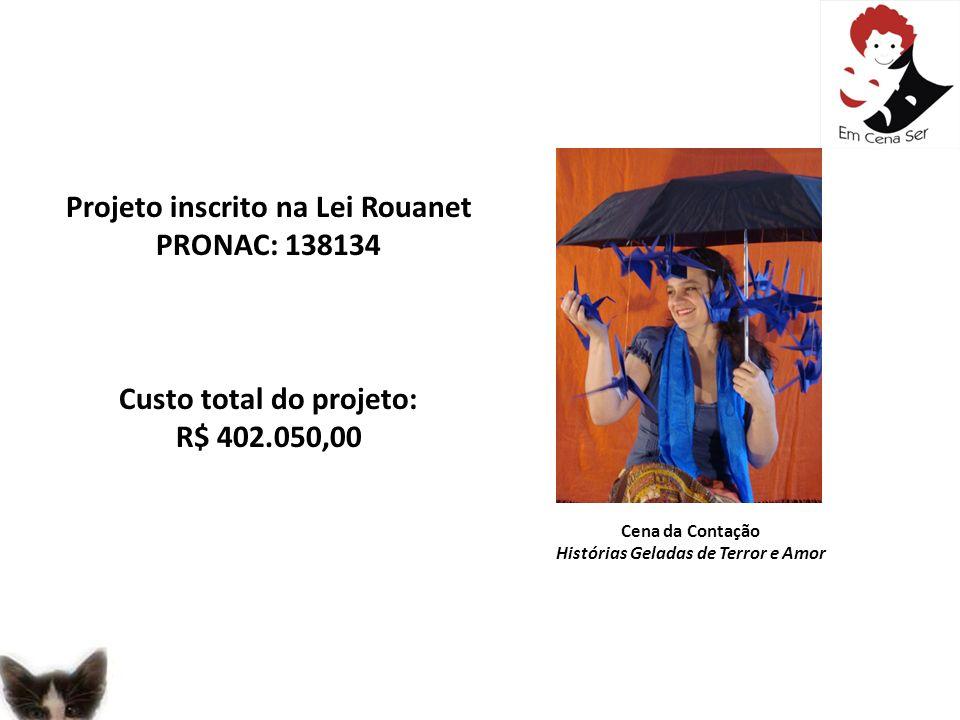 Projeto inscrito na Lei Rouanet PRONAC: 138134