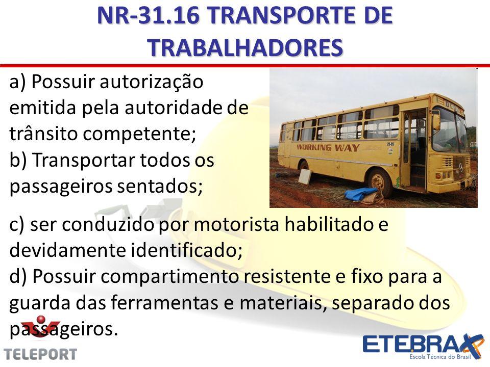 NR-31.16 TRANSPORTE DE TRABALHADORES