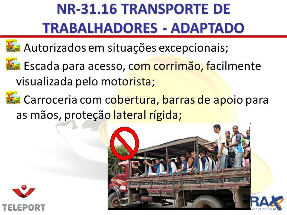 NR-31.16 TRANSPORTE DE TRABALHADORES - ADAPTADO