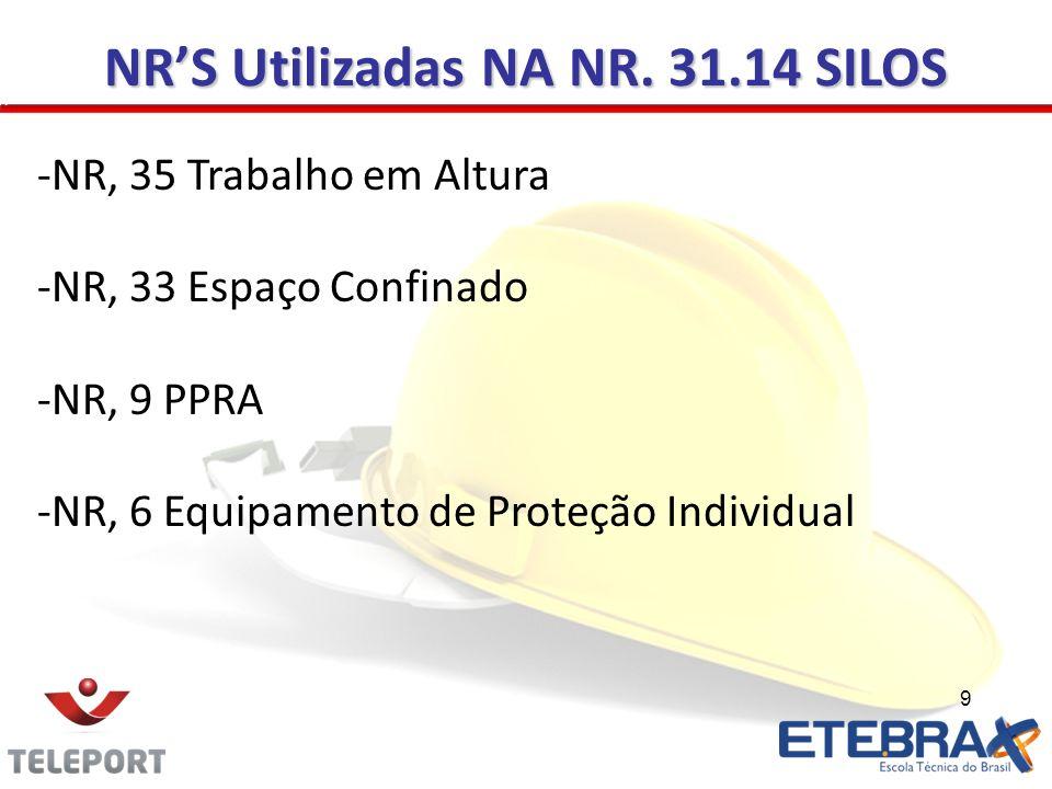 NR'S Utilizadas NA NR. 31.14 SILOS