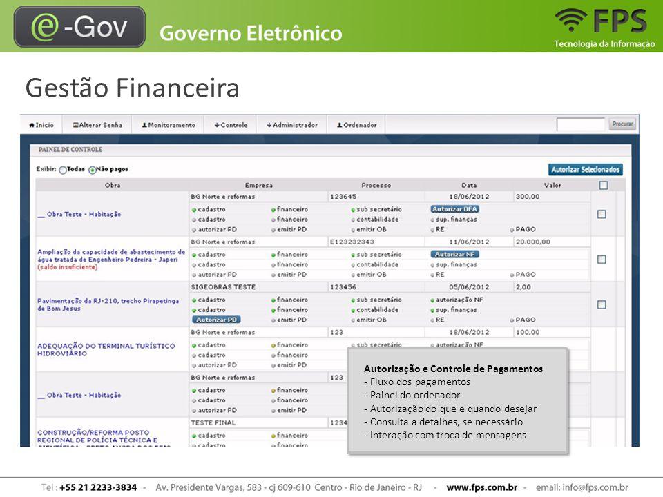 Gestão Financeira Autorização e Controle de Pagamentos