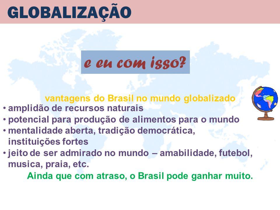 GLOBALIZAÇÃO e eu com isso vantagens do Brasil no mundo globalizado