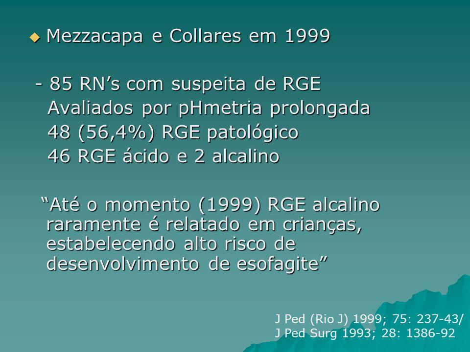 Mezzacapa e Collares em 1999 - 85 RN's com suspeita de RGE