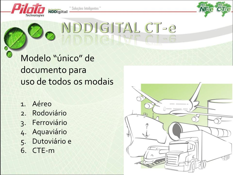 NDDIGITAL CT-e Modelo único de documento para uso de todos os modais