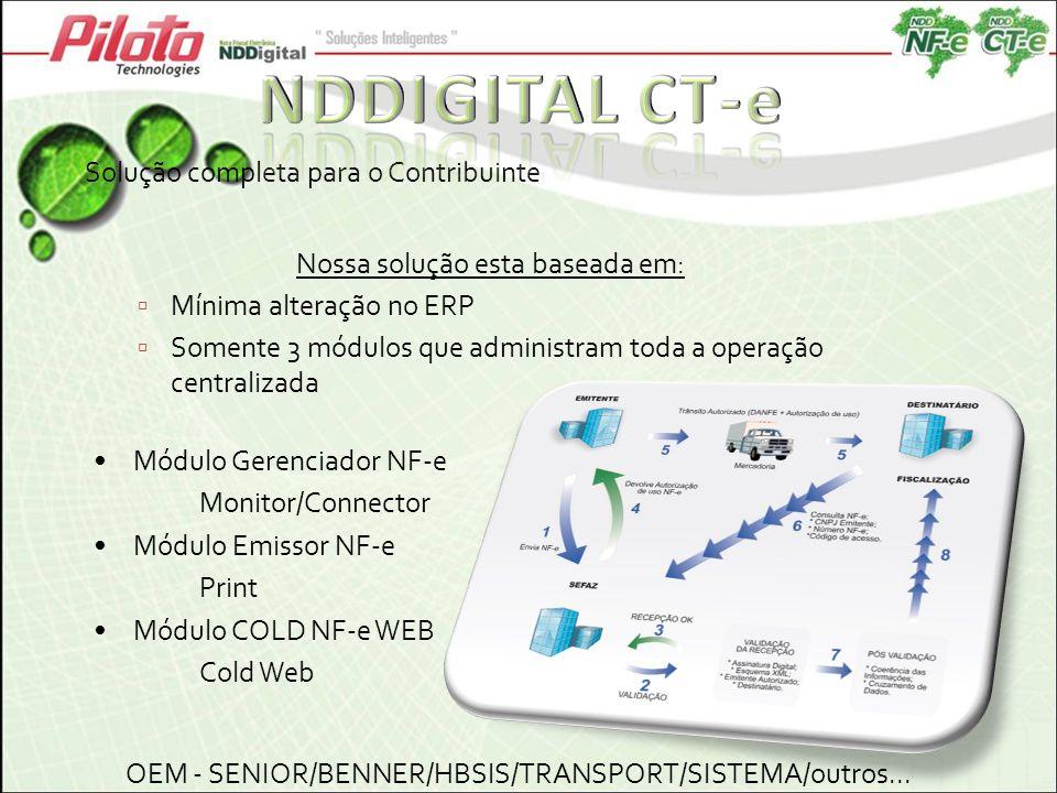 NDDIGITAL CT-e Solução completa para o Contribuinte
