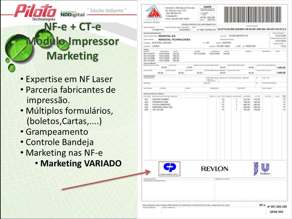 Modulo Impressor Marketing