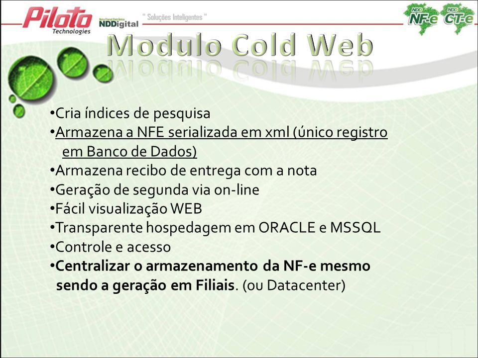 Modulo Cold Web Cria índices de pesquisa