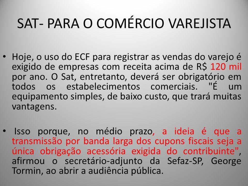 SAT- PARA O COMÉRCIO VAREJISTA