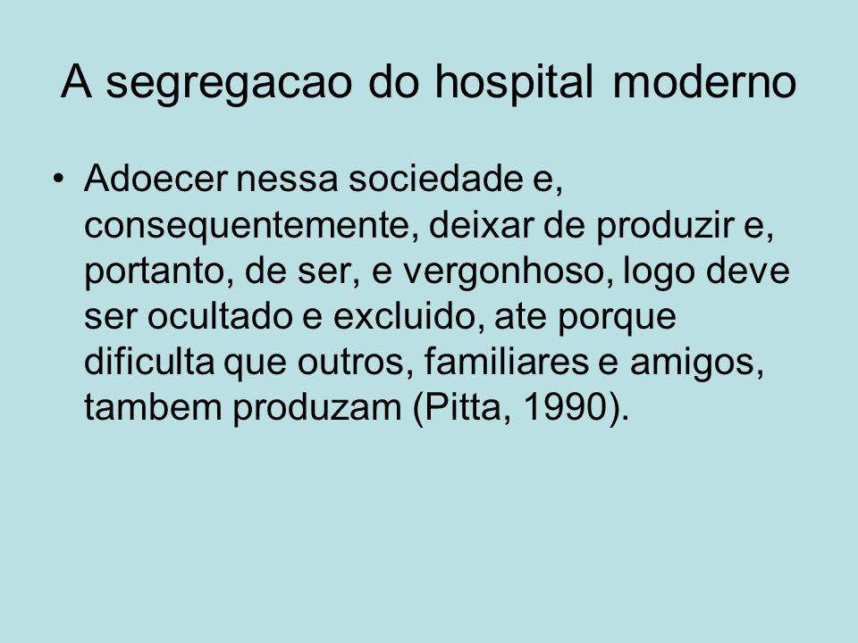 A segregacao do hospital moderno