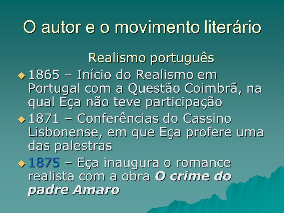 O autor e o movimento literário
