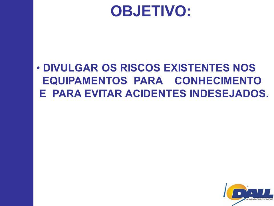 OBJETIVO: DIVULGAR OS RISCOS EXISTENTES NOS
