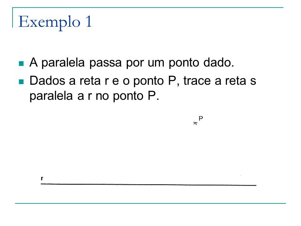 Exemplo 1 A paralela passa por um ponto dado.