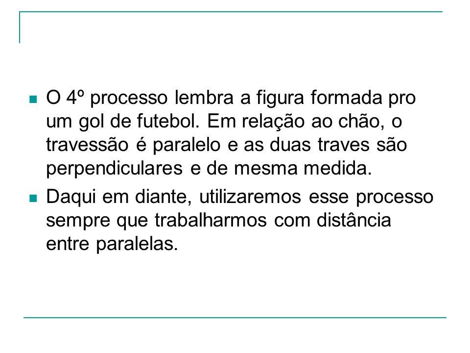 O 4º processo lembra a figura formada pro um gol de futebol