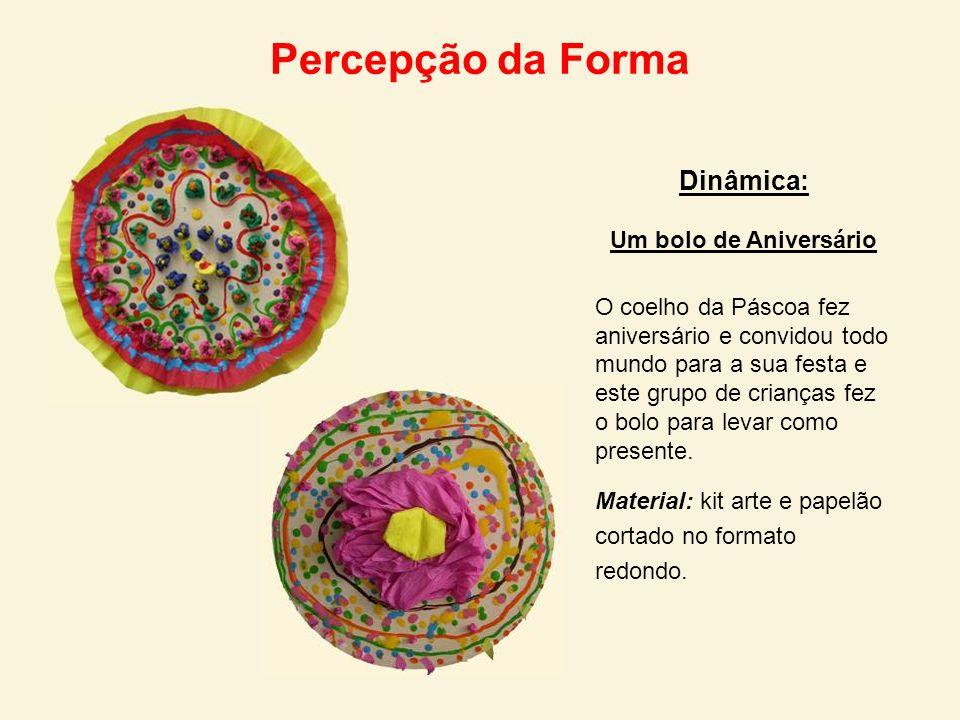 Percepção da Forma Dinâmica: Um bolo de Aniversário