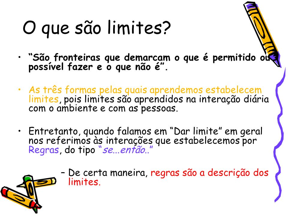 Muito Regras e limites na educação de crianças - ppt carregar NM64