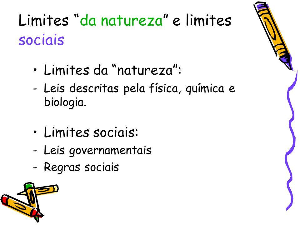 Limites da natureza e limites sociais