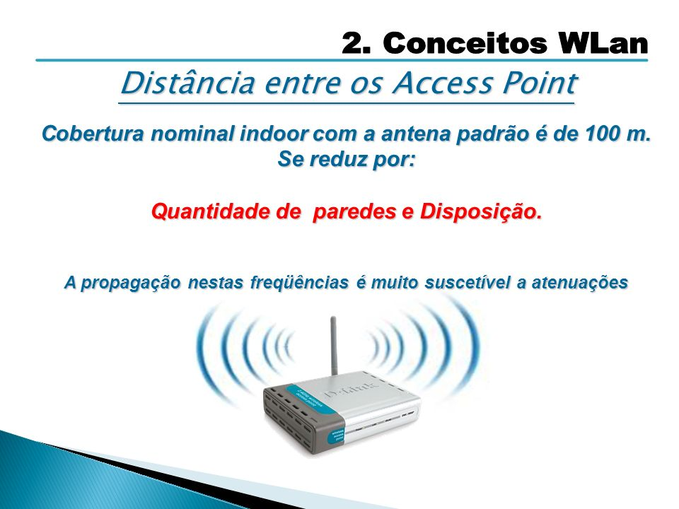 Distância entre os Access Point