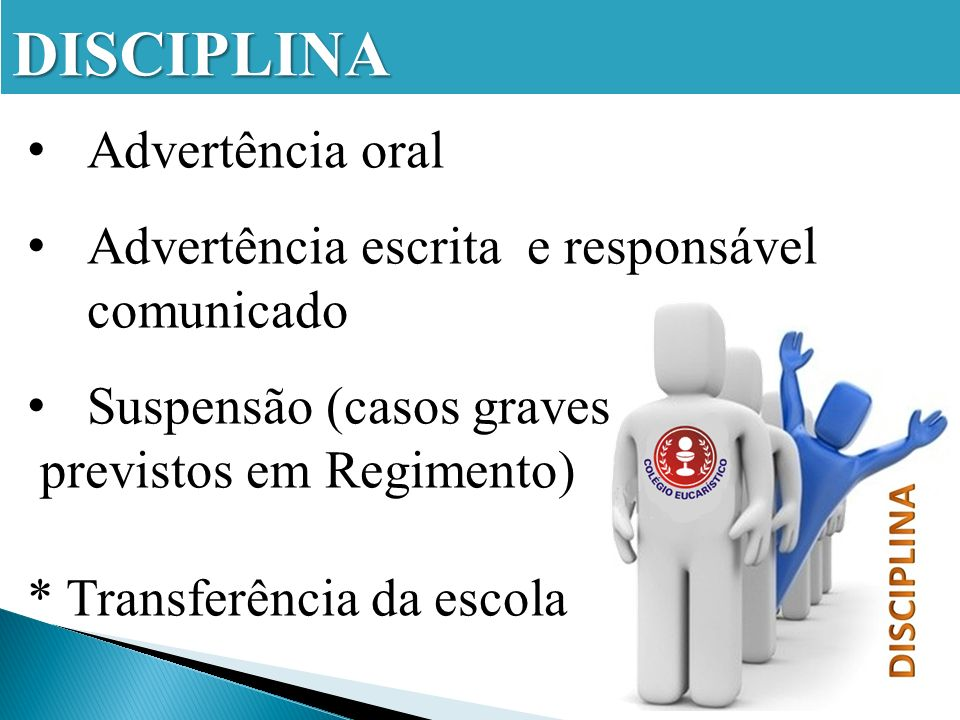 DISCIPLINA Advertência oral