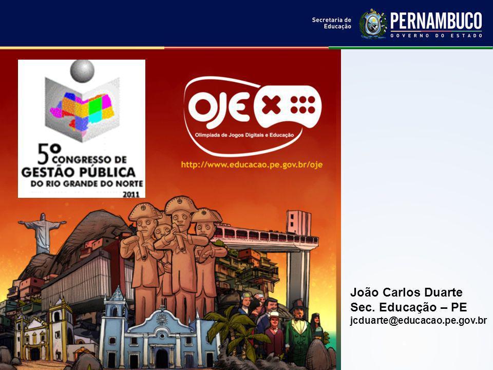 João Carlos Duarte Sec. Educação – PE jcduarte@educacao.pe.gov.br