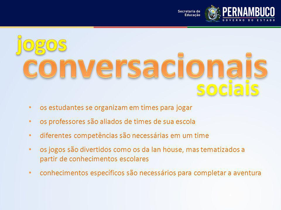 conversacionais jogos sociais