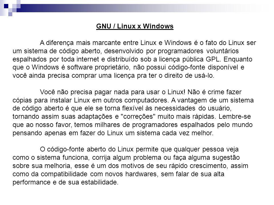 GNU / Linux x Windows