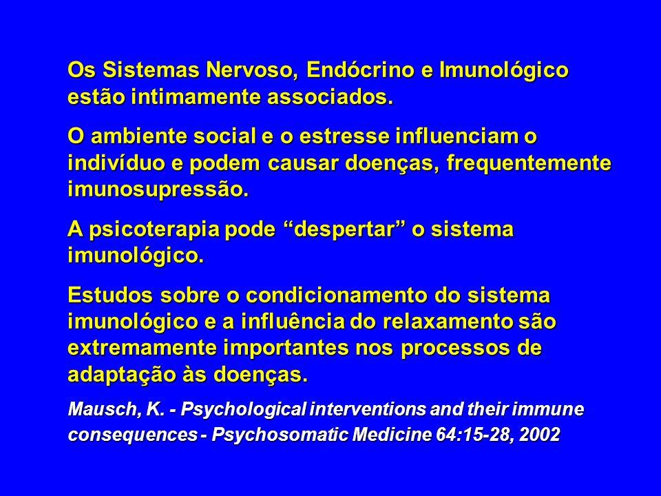 A psicoterapia pode despertar o sistema imunológico.