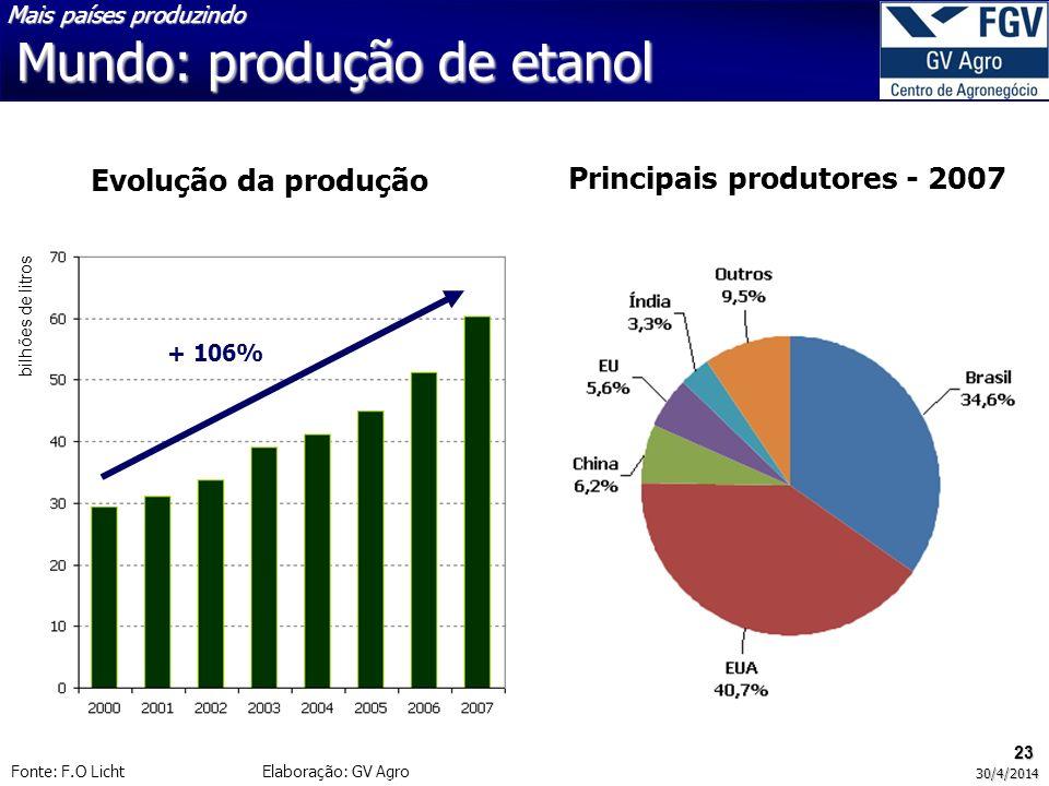 Principais produtores - 2007