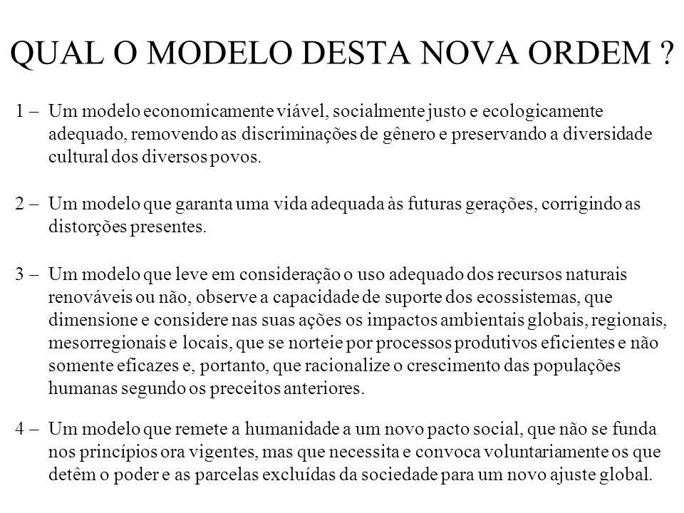 QUAL O MODELO DESTA NOVA ORDEM