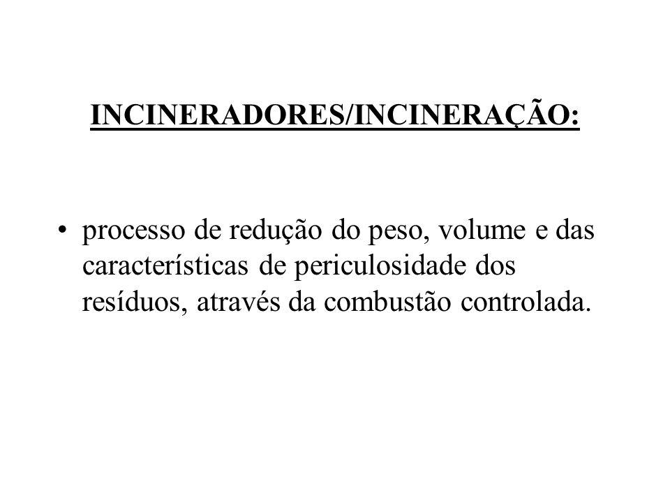 INCINERADORES/INCINERAÇÃO: