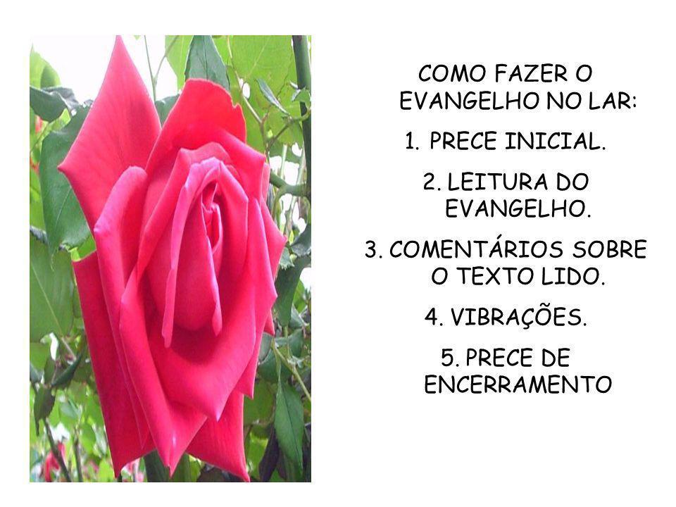 COMO FAZER O EVANGELHO NO LAR: PRECE INICIAL. LEITURA DO EVANGELHO.
