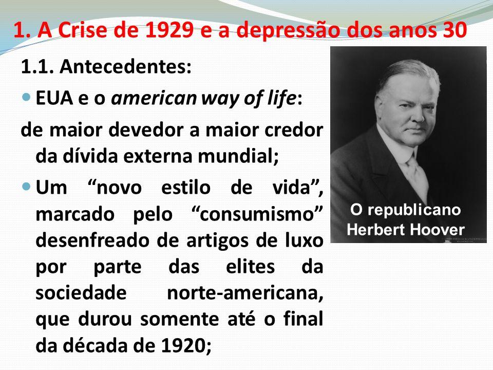 1. A Crise de 1929 e a depressão dos anos 30