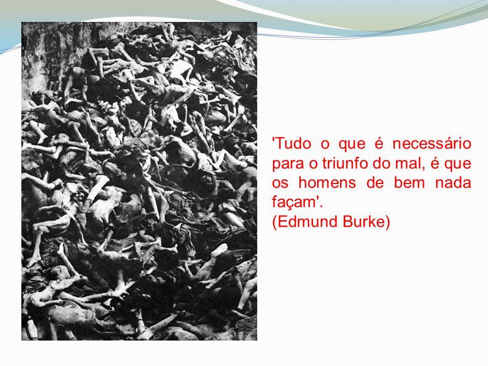 Tudo o que é necessário para o triunfo do mal, é que os homens de bem nada façam .