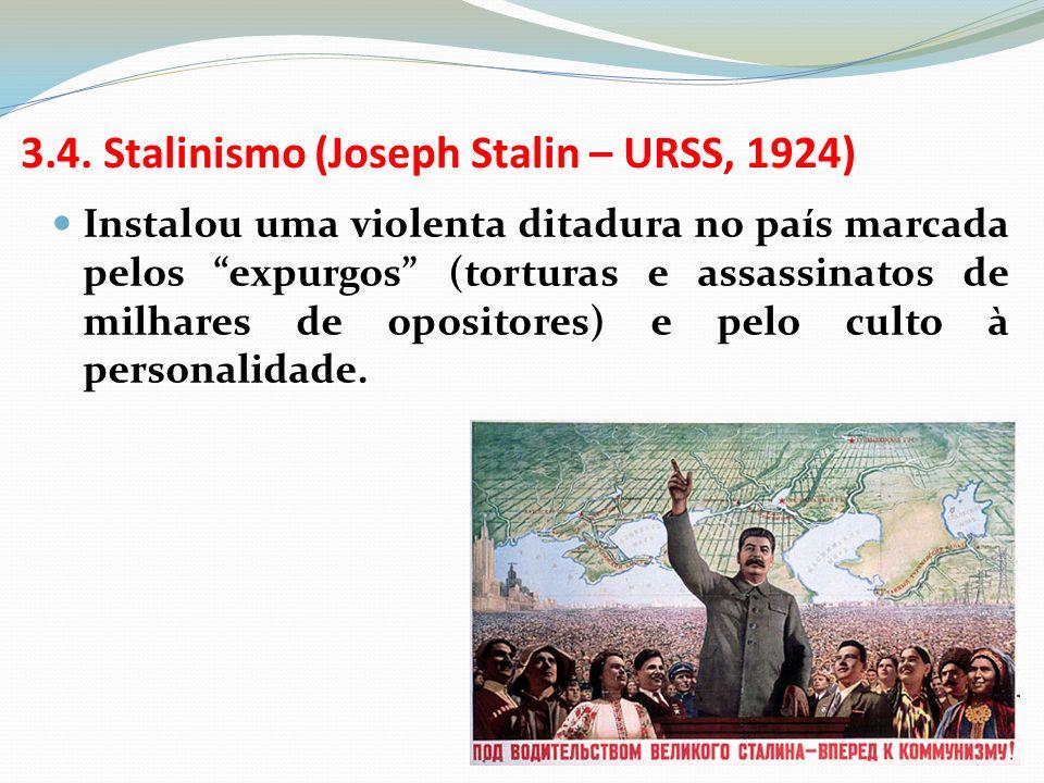 3.4. Stalinismo (Joseph Stalin – URSS, 1924)